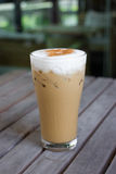Iced Cappuccino (ice coffee) Stock Photo