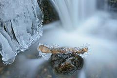 Iced Cascade Stock Photo