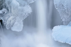 Iced Cascade Royalty Free Stock Photos