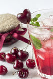 Iced cherry mojito Stock Images