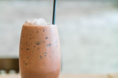 Iced chocolate. In cafe shop royalty free stock images