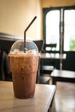 Iced chocolate in coffee shop Stock Photo