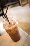 Iced chocolate in coffee shop Stock Image