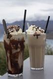 Iced chocolate and iced coffee Stock Image