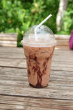 Iced chocolate mocha refreshment coffee drink Royalty Free Stock Photography
