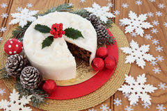 Iced Christmas Cake Still Life Stock Photos