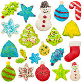 Iced Christmas Cookie Collection Stock Images