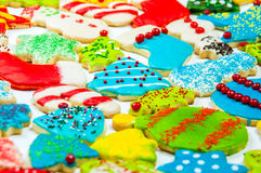 Iced Christmas Cookie Collection Royalty Free Stock Photo