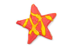 Iced Christmas cookie star Stock Photos