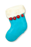 Iced Christmas cookie stocking Royalty Free Stock Photography