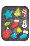 Iced Christmas cookies Stock Photography