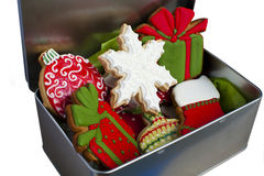 Iced Christmas Cookies. Royalty Free Stock Images