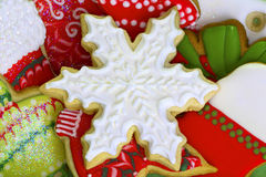 Free Iced Christmas Cookies. Royalty Free Stock Photos - 28749208