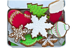 Iced Christmas cookies. Royalty Free Stock Photo