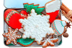 Iced Christmas Cookies. Stock Image