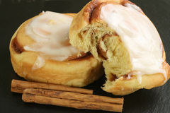 Iced cinnamon buns Stock Photography