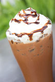Iced cocoa and whipped cream. Stock Images