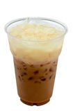 Iced coffee. Latte on white background royalty free stock photo