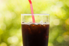 Iced coffee americano Stock Photo