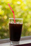 Iced coffee americano Royalty Free Stock Photos