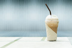 Iced coffee. Blurry cray in backgrounds stock photo