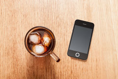 Iced Coffee Break Royalty Free Stock Images