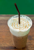 Iced coffee in cafe royalty free stock image