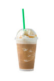 Iced coffee with clipping path. Iced coffee and whipped cream with clipping path royalty free stock images