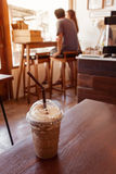 Iced coffee in coffee shop Royalty Free Stock Photos