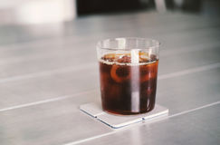 Iced coffee or cold brew coffee in glass Royalty Free Stock Photos