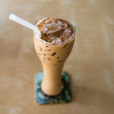 Iced coffee with copyspace composition Stock Images