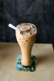 Iced coffee with copyspace composition Royalty Free Stock Image