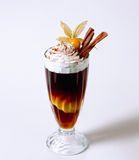 Iced coffee with cream Royalty Free Stock Photo