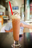 Iced coffee with cream Royalty Free Stock Photography