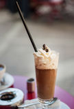 Iced coffee with cream royalty free stock image