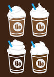Iced Coffee with Cream Vector Illustration Royalty Free Stock Image