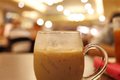 Iced coffee drink in cafe Royalty Free Stock Photo