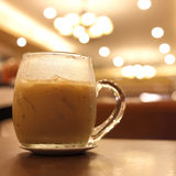 Iced coffee drink in cafe Stock Image