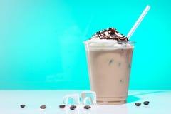 iced coffee with ice-cream royalty free stock photos