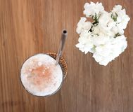 Iced coffee ,iced cocoa. Or iced mocha royalty free stock photos
