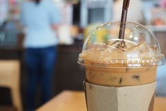 Iced coffee. royalty free stock image