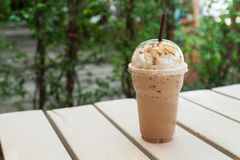 Free Iced Coffee In Plastic Cup Stock Images - 52122244