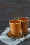 Iced coffee in a jar Stock Photos