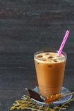 Iced coffee in a jar Royalty Free Stock Photos