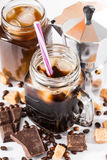 Iced coffee in a large mug Royalty Free Stock Photography