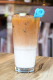 Iced coffee latte Stock Images