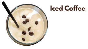Iced coffee with milk or cream Stock Photos