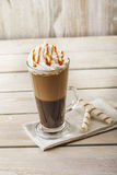 Iced coffee with milk and ice cream Royalty Free Stock Photos