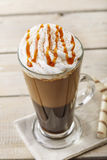 Iced coffee with milk and ice cream Stock Images