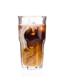 Iced Coffee with Milk. Royalty Free Stock Photo